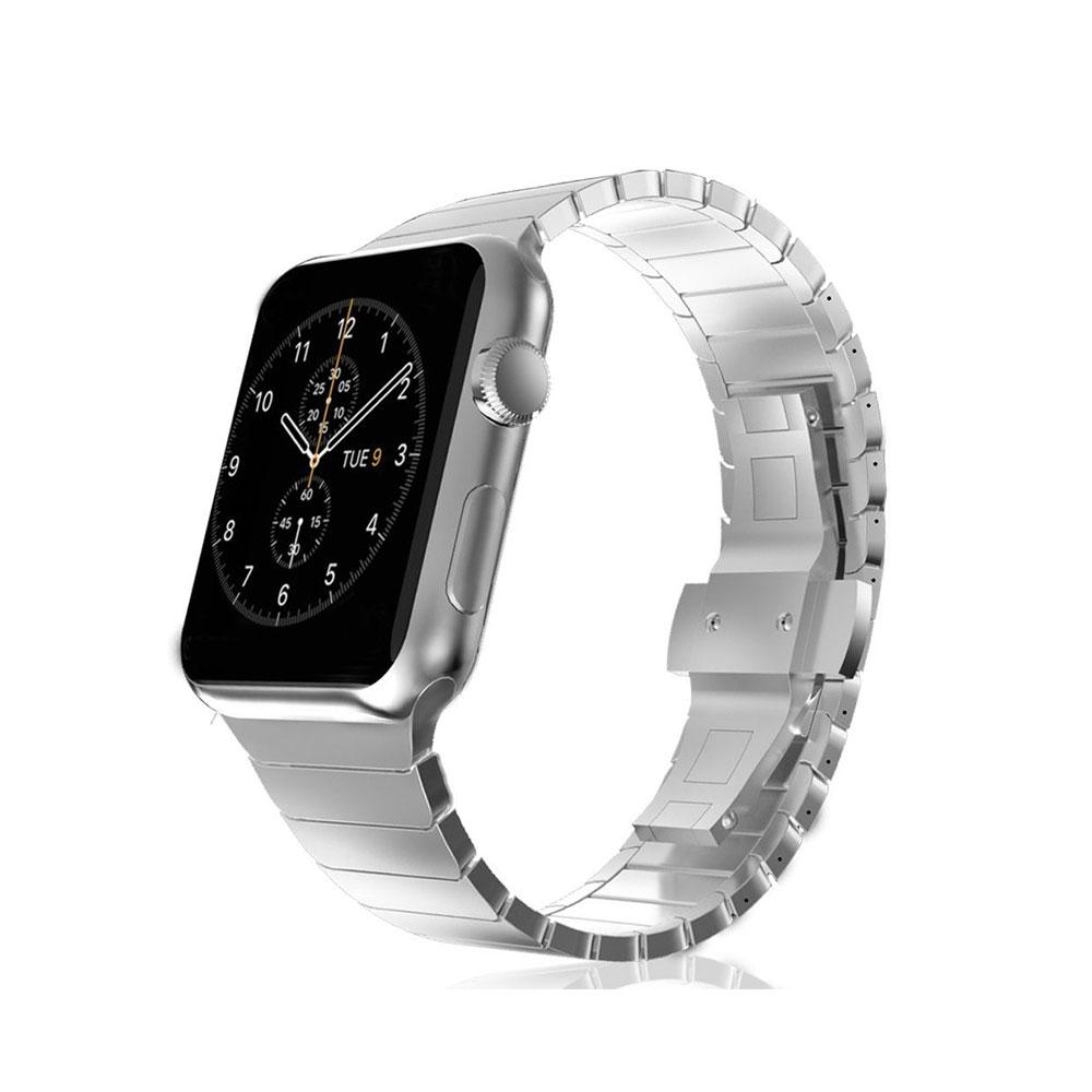 Zubehör Streng Sivel Armband Elegant Apple Watch 38mm Edelstahlarmband Gliederarmband Schwarz Verschiedene Stile