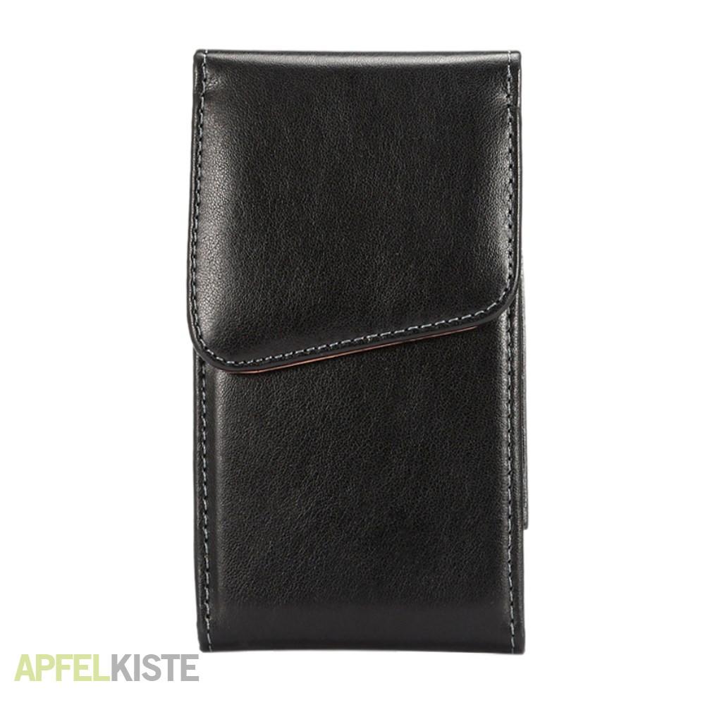 6c65150f2f7 iPhone Xs / X / 8 / 7 / 6S / 6 Kunstleder Tasche mit Gürtelclip 360 Grad  Drehfunktion - Schwarz