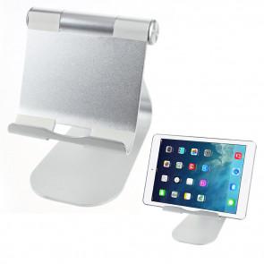 210 Grad Multi Winkel Aluminium Ständer Halter für Tablet / Smartphone - Silber
