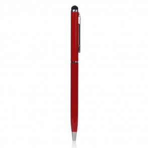 2in1 Universal Display Alu Stylus Touch Pen + Kugelschreiber - Rot