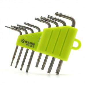 8in1 Torx Schlüsselsatz Werkzeugset im klappbaren Kunststoff Halter