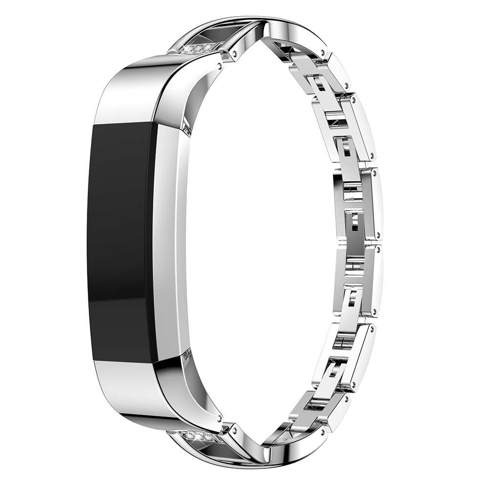Fitbit Alta / Alta HR Elegantes Edelstahl Armband Diamant Look - Silber