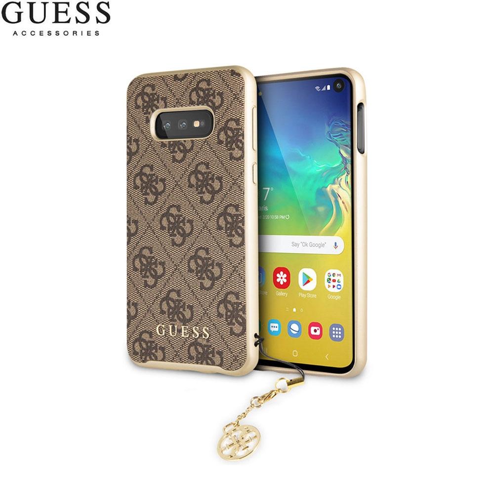 Guess Samsung Galaxy S10e Charms Hardcase Hülle (GUHCS10LGF4GBR) Braun