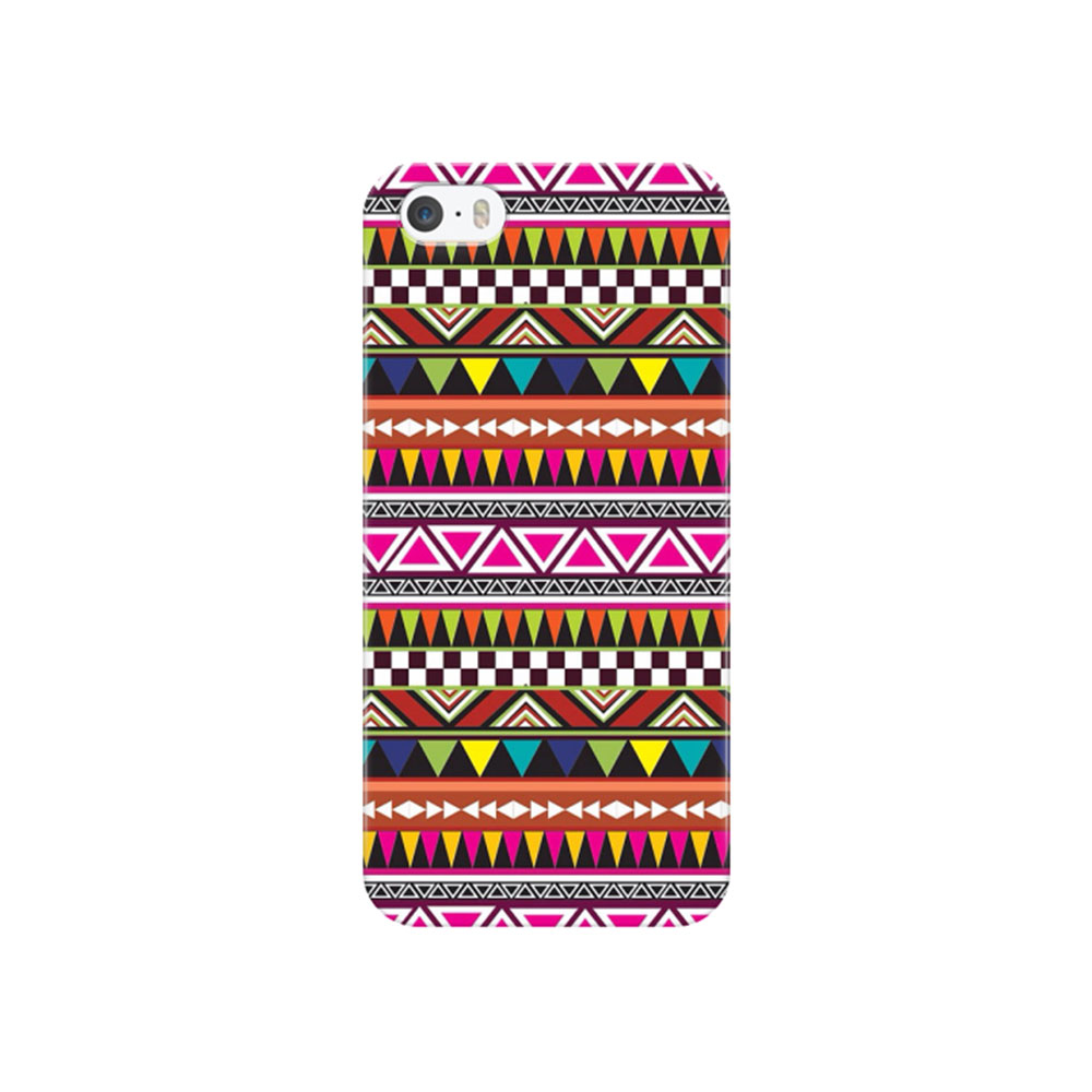 Image of iPhone SE / 5 / 5S Hardcase Hülle Azteken Look - Bunt