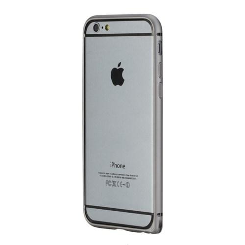 Rock - iPhone 6 Alu Bumper Slim Guard + Tasten - Grau
