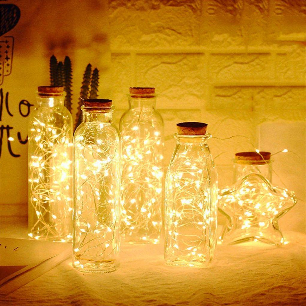 10er LED-Flaschen-Lichterkette inklusive Timer